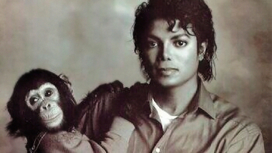 Michael Jackson and Bubbles the Chimp - One Time Use Only - Newscom - H 2017