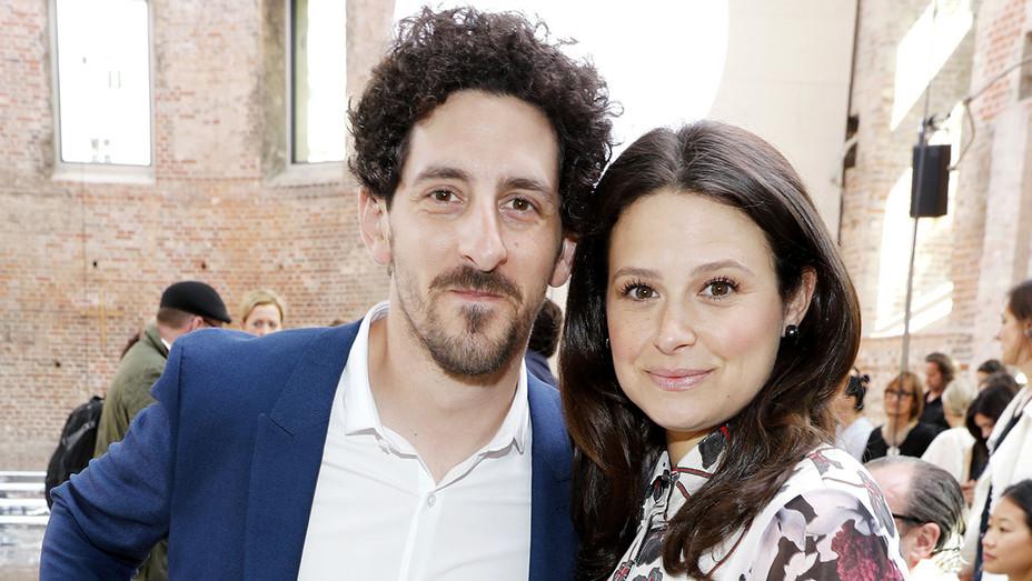 Katie Lowes and Adam Shapiro -Dorothee Schumacher show -Getty-H 2017