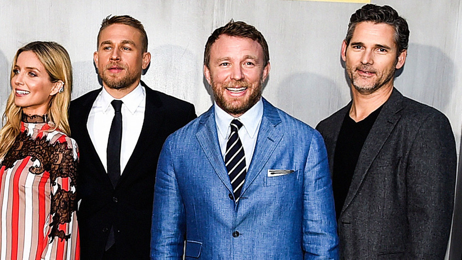 Charlie Hunnam, Guy Ritchie and Eric Bana - King Arthur Premiere - Getty - H 2017