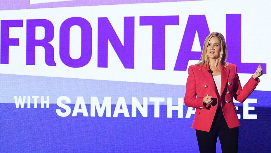 Samantha Bee speaks onstage during the Turner Upfront 2017 show - Getty-H 2017