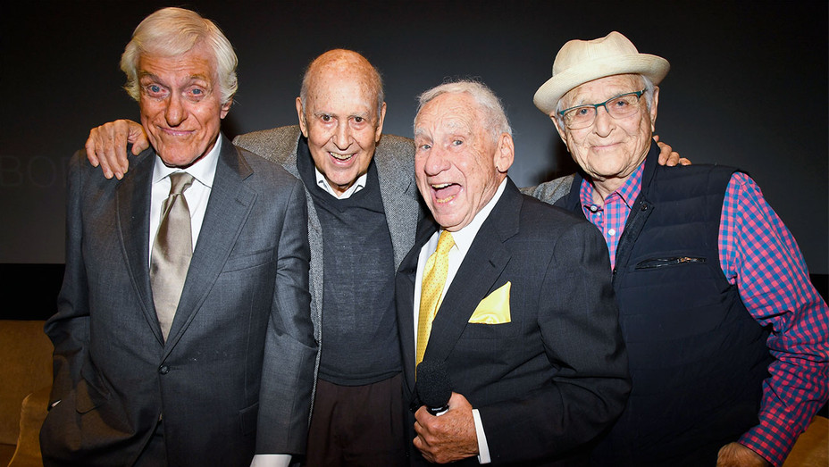 Dick Van Dyke, Carl Reiner, Mel Brooks and Norman Lear - If You're Not in the Obit, Eat Breakfast - Getty - H 2017