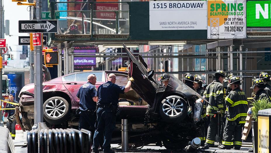 Times Square Car Crash - Getty - H 2017