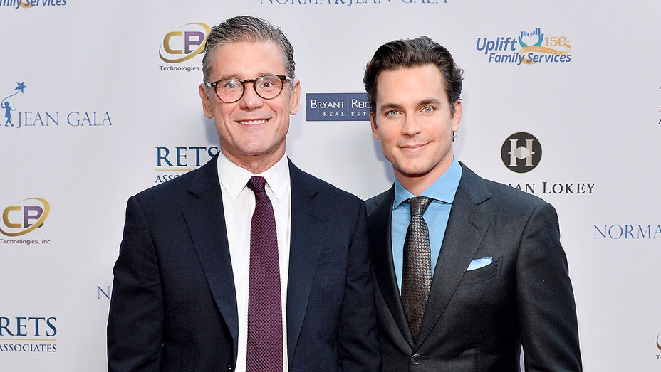 Simon Halls and Matt Bomer - Uplift Family Services at Hollygrove Gala - Getty-H 2017