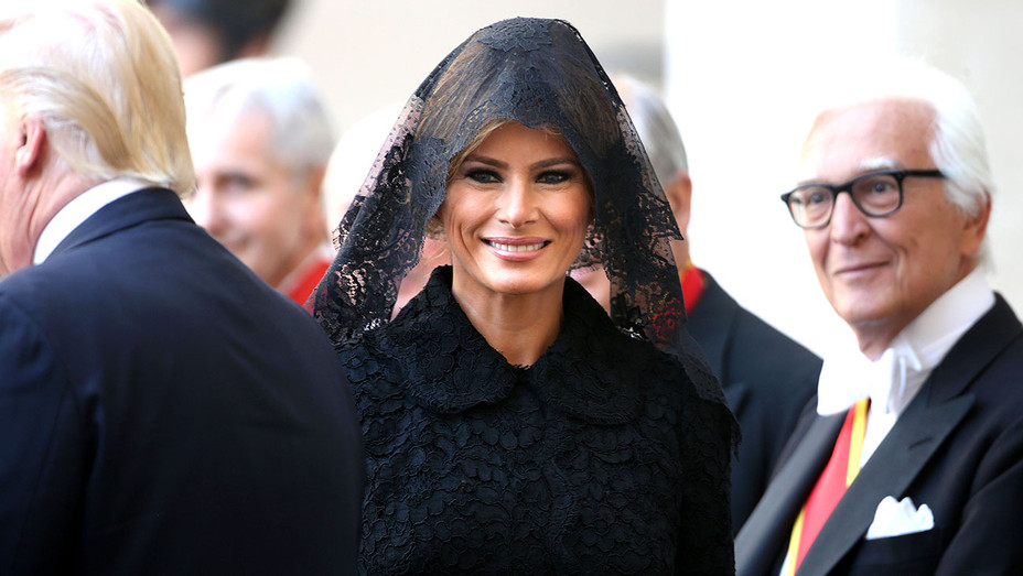 First Lady Melania Trump arrive at the Apostolic Palace - Getty-H 2017