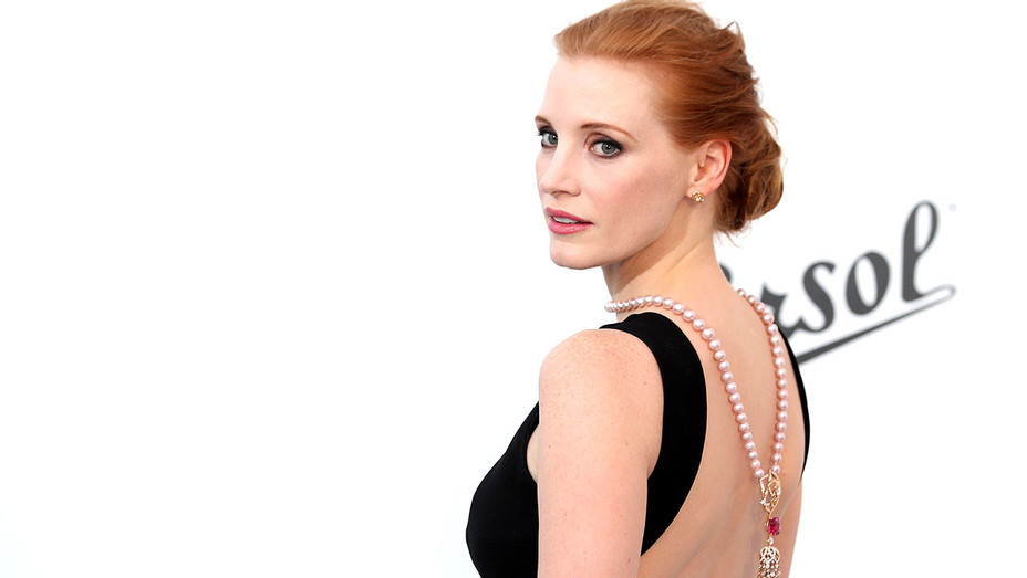 Jessica Chastain arrives at the amfAR Gala Cannes 2017 -Getty-H 2017