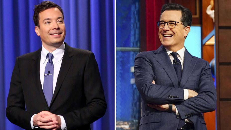 Jimmy Fallon and Stephen Colbert -Split-Publicity-H 2017