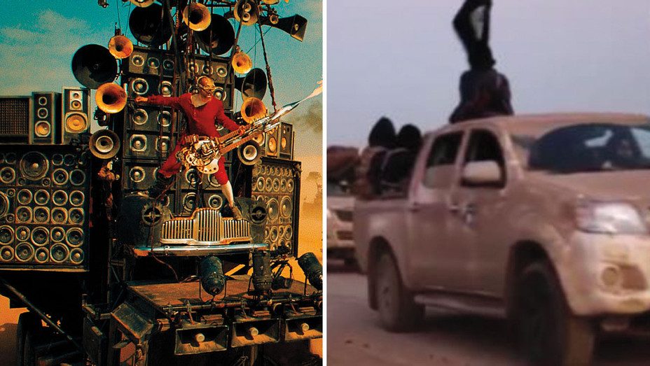 Mad Max Still and ISIS Video One Time Use Only - Split - Rex - H 2017