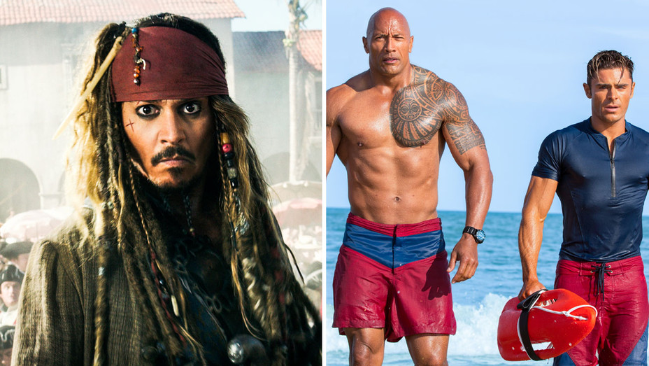 Pirates of the Caribean- Dead Men and Baywatch - Split - Publicity - H 2017