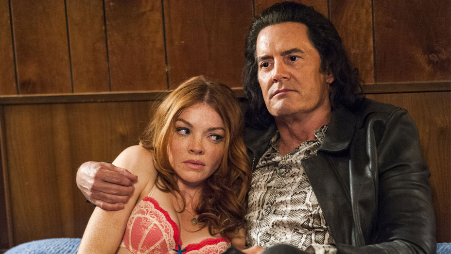 Twin Peaks Still Nicole LaLiberte and Kyle MacLachlan - Publicity - H 2017