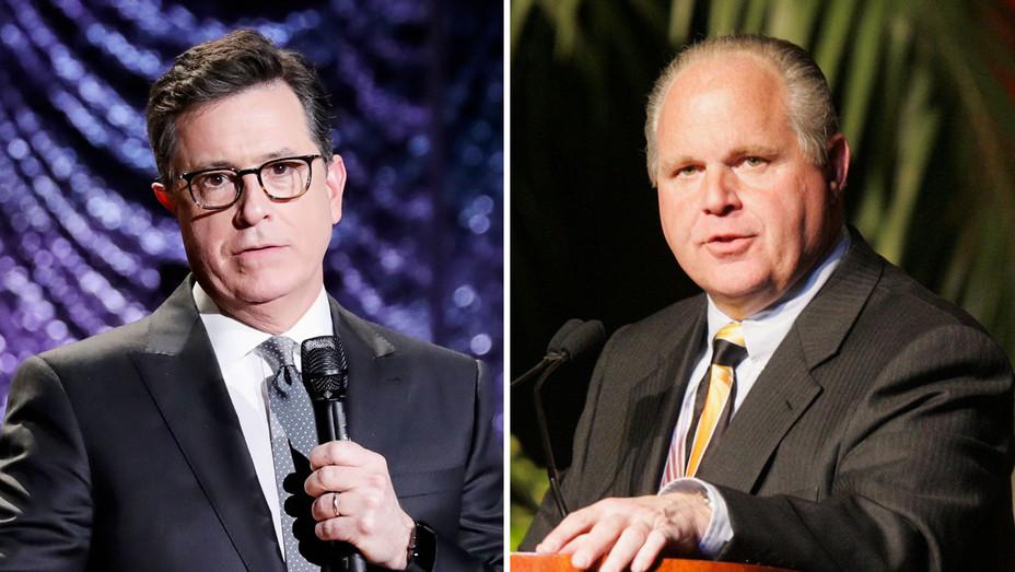 Stephen Colbert and Rush Limbaugh - Split - Getty - H 2017