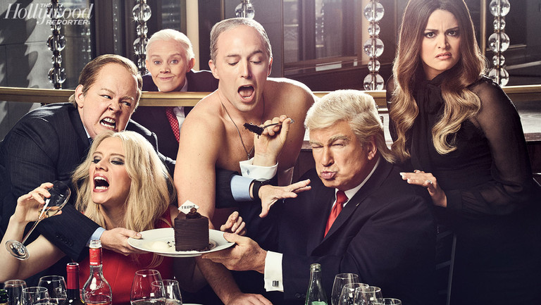 """'SNL's' Yuuuge Year: 20 Insiders Reveal Alec Baldwin's Future as Trump, """"Spicey"""" Secrets and Lorne Michaels' Election Pep Talk"""