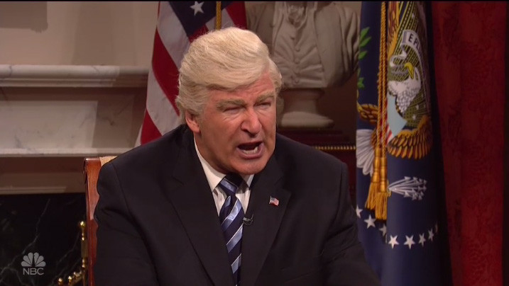 Alec Baldwin Trump on SNL May 13 - H 2017 Screengrab