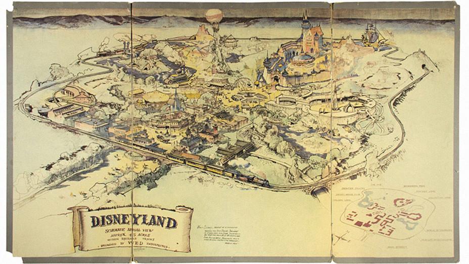 Disneyland Map Aerial View - Publicity - H 2017
