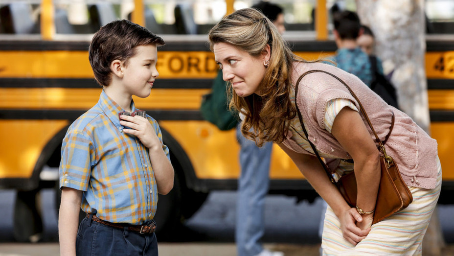 YOUNG SHELDON - Iain Armitage and Zoe Perry- Publicity-H 2017