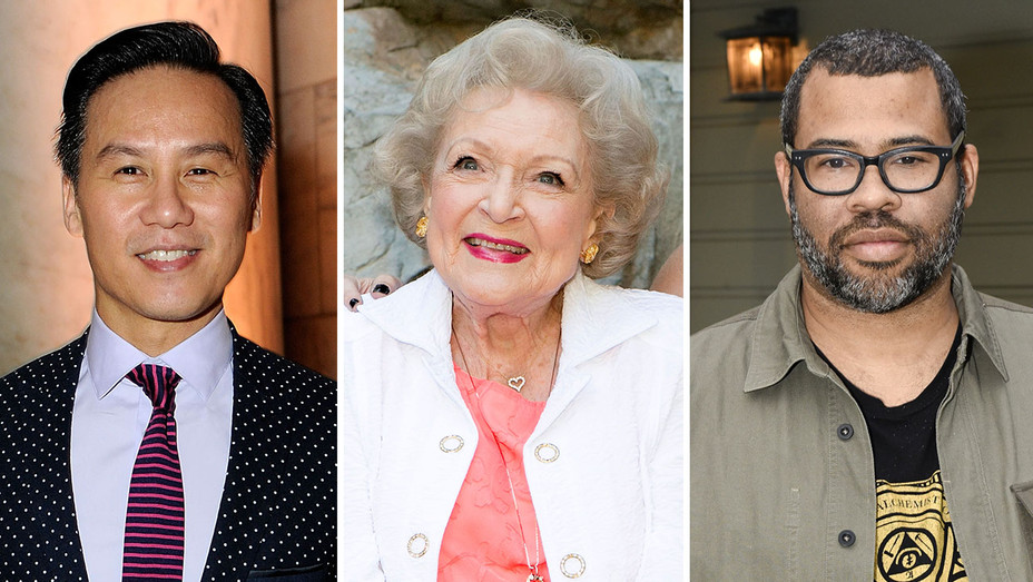 B.D. Wong, Betty White and Jordan Peele_Split - Getty - H 2017