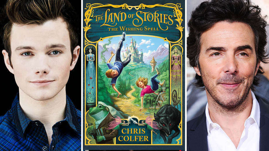 Chris Colfer, The Wishing Spell Cover and Shawn Levy - Split - Publicity - H 2017