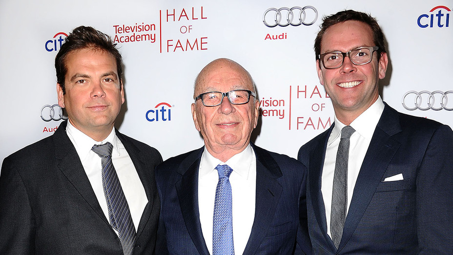 THR 100 List 2017 -Lachlan Murdoch, Rupert Murdoch and James Murdoch - Getty-H 2017