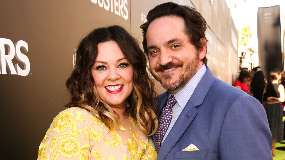 Melissa McCarthy and Ben Falcone - Ghostbusters Premiere - Getty - H 2017