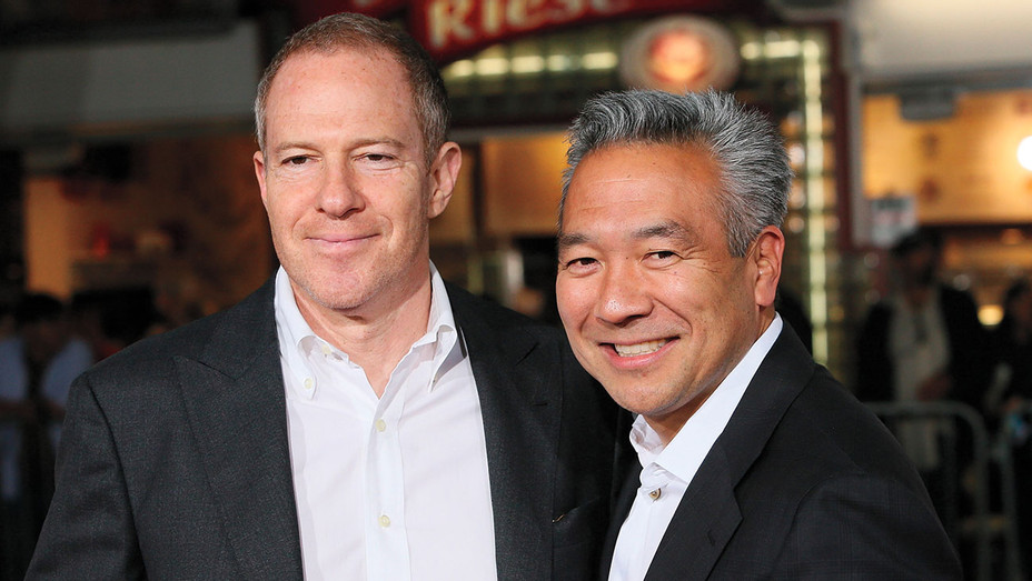 Toby Emmerich and Kevin Tsujihara - Fist Fight Premiere - Getty - H 2017