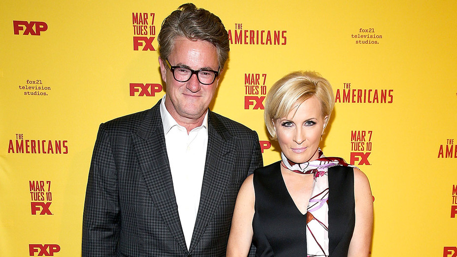 Joe Scarborough and Mika Brzezinski - The Americans Season 5 Premiere - Getty - H 2017