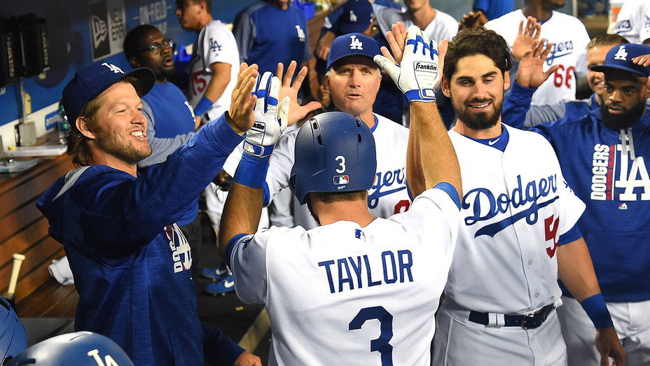 Los Angeles Dodgers in the dugout - Getty- H 2017