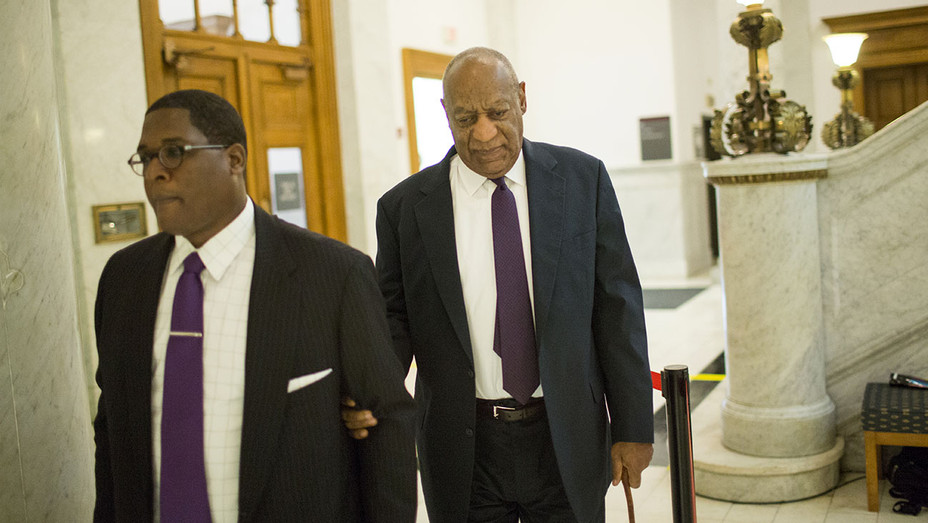 Bill Cosby and spokesman Andrew Wyatt arrive for Cosby's trial - June 6-Getty-H 2017