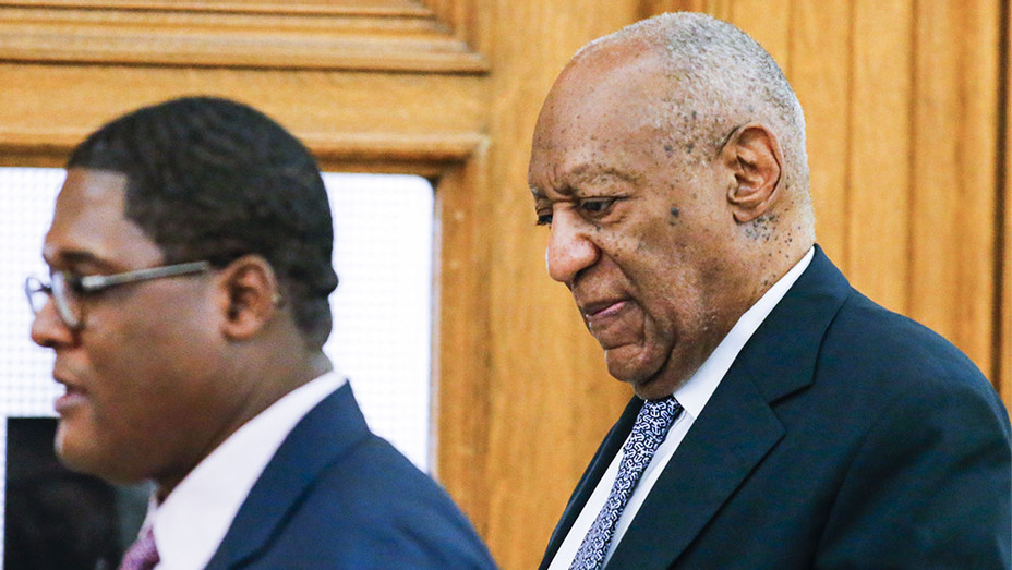 Andrew Wyatt and Bill Cosby Arriving for Trial - Getty - H 2017