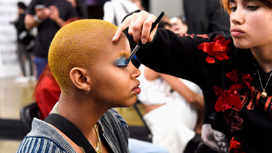 Moschino Spring/Summer 2018 Show BTS Beauty - Getty - H 2017
