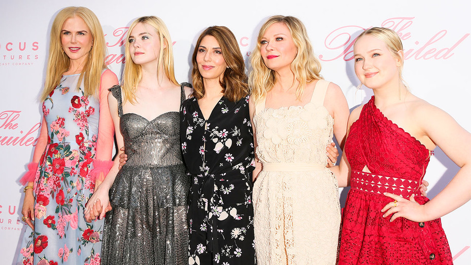 The Beguiled Cast - Nicole Kidman, Elle Fanning, Sofia Coppola, Kirsten Dunst and Emma Howard - Getty - H 2017