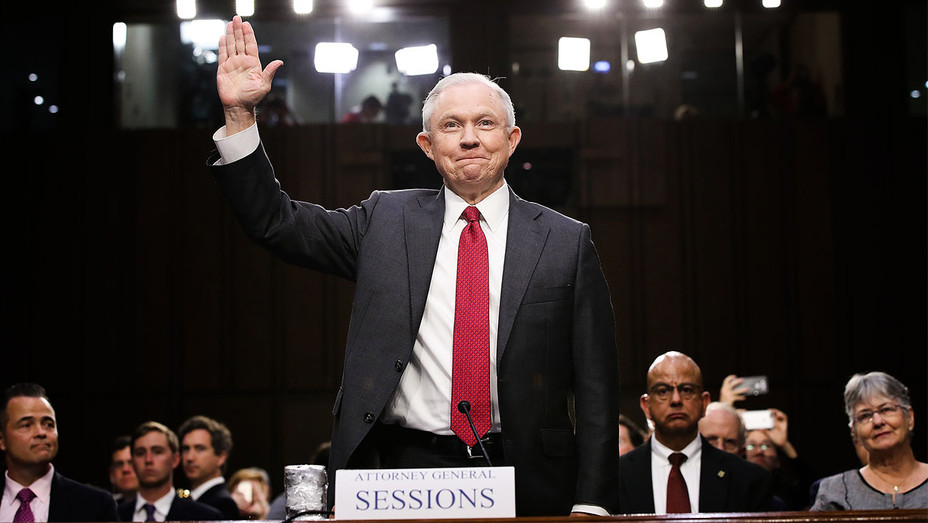 Jeff Sessions - Senate Intelligence Committee - Getty - H 2017