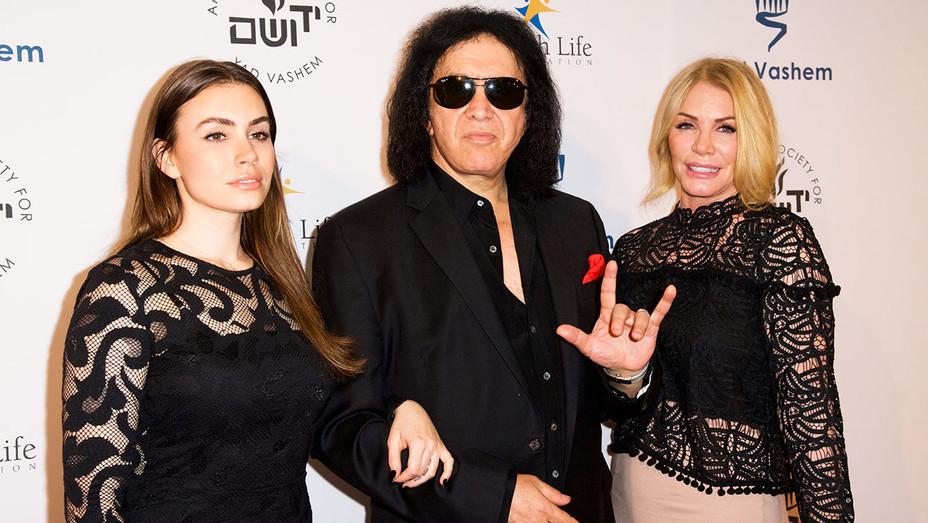 Sophie Simmons, Gene Simmons and Shannon Tweed - Yad Vashem Gala - Getty - H 2017