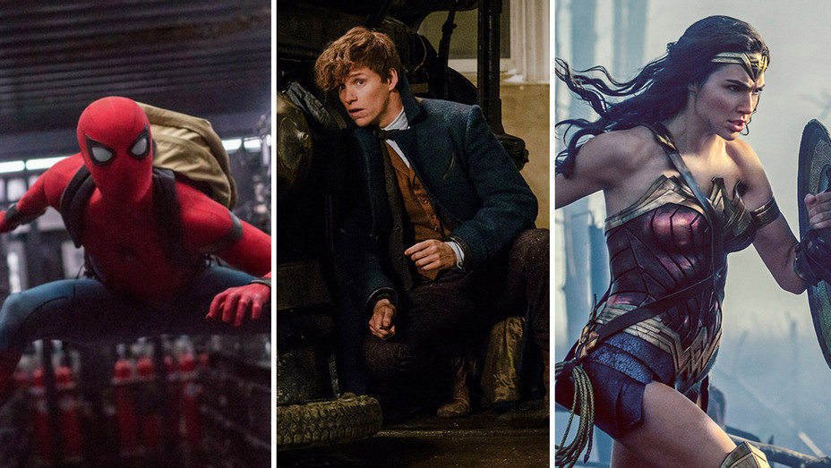Spiderman Homecoming_Fantastic Beasts_Wonder Woman_Split - Publicity - H 2017