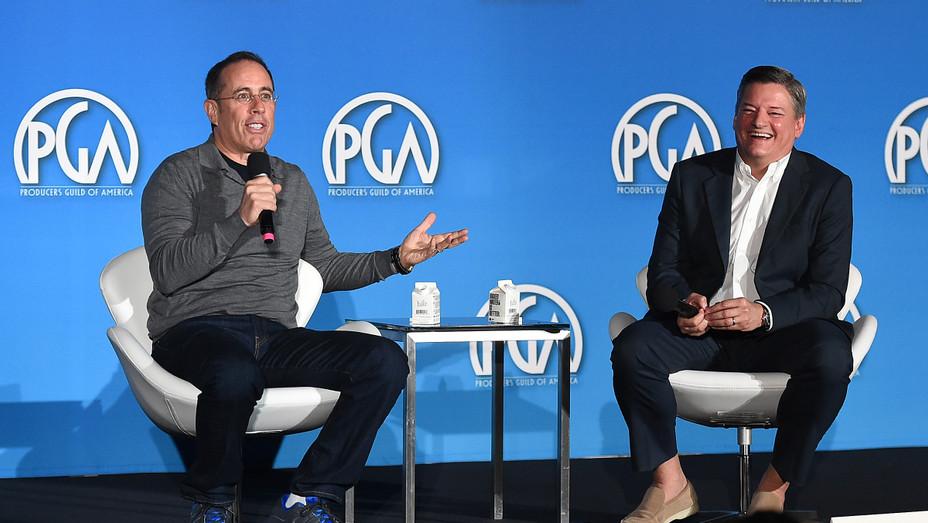 Jerry Seinfeld and Ted Sarandos - PGA/AP - H