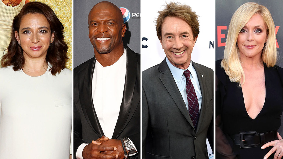MAYA RUDOLPH, TERRY CREWS, MARTIN SHORT AND JANE KRAKOWSKI-Split-H 2017