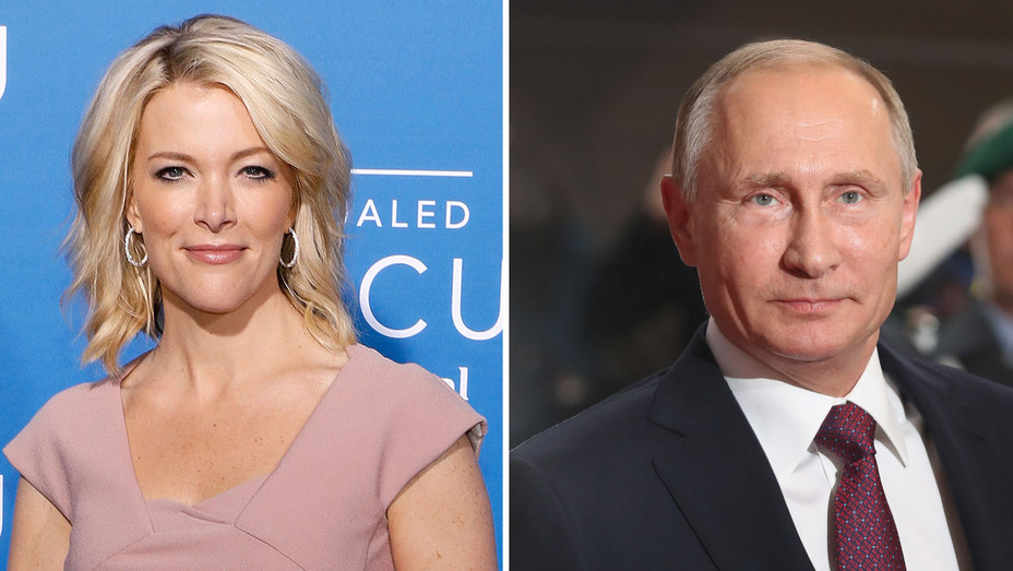 Megyn Kelly and Putin -Split-Getty-H 2017