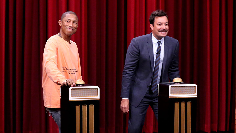 THE TONIGHT SHOW STARRING JIMMY FALLON - Pharrell Williams and Jimmy Fallon -Publicity-H 2017