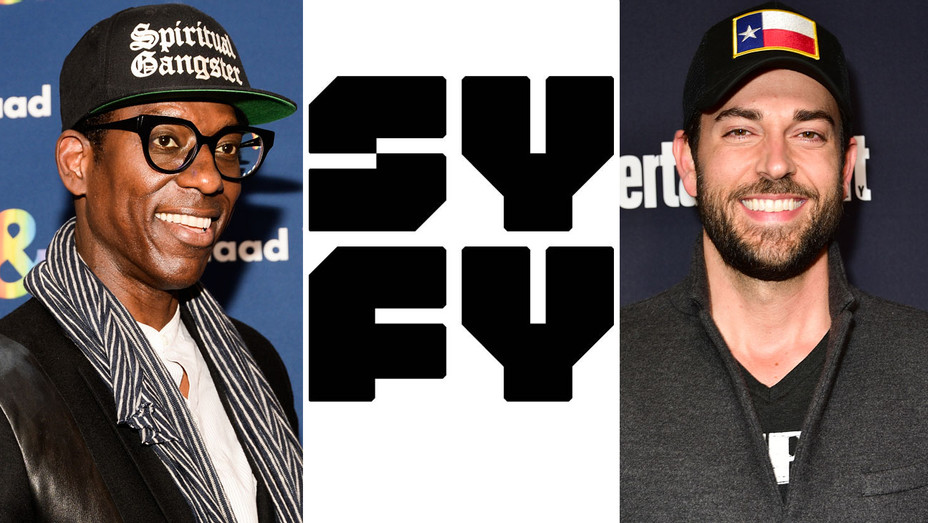 Orlando Jones, Syfy Logo and Zachary Levi - Split - Getty - H 2017