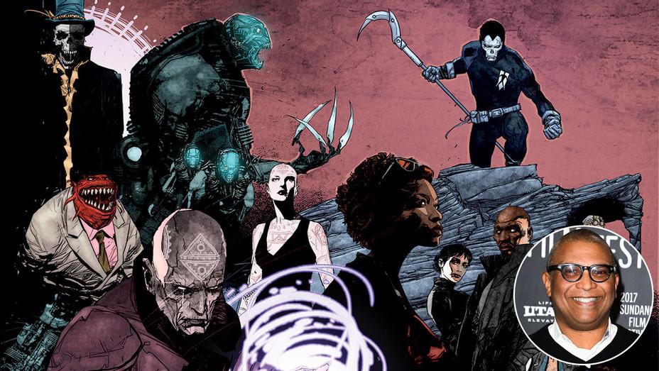Shadowman Cover Art and Reginald Hudlin - Inset - Getty - H 2017