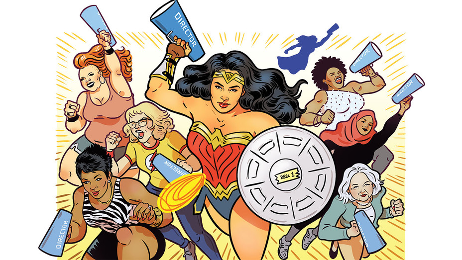 Wonder Woman's' a Hit, But Do Female Directors Really Win - Illustration by Kyle Hilton -H 2017