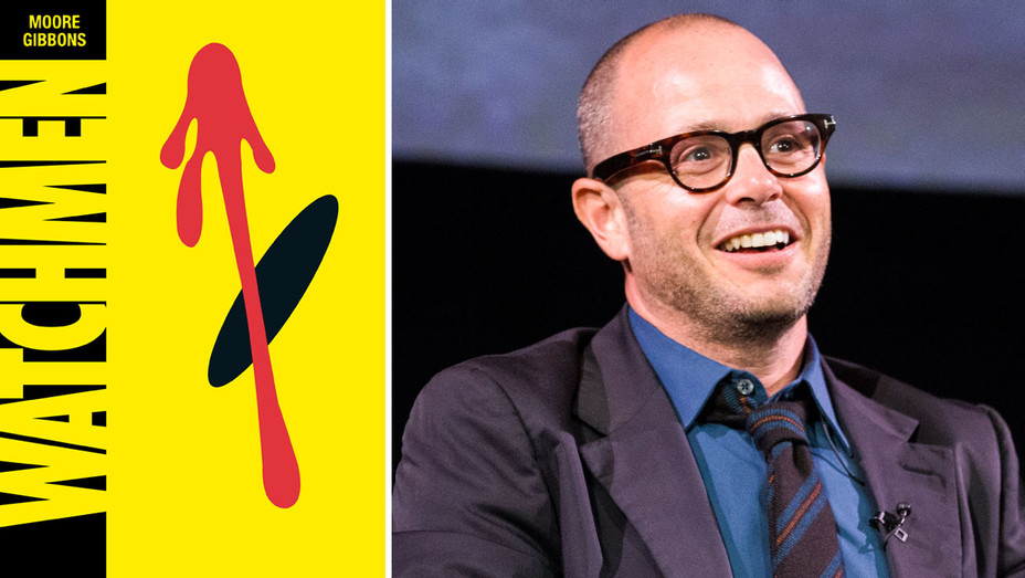 Watchmen Cover and Damon Lindelof - Split - Getty - H 2017
