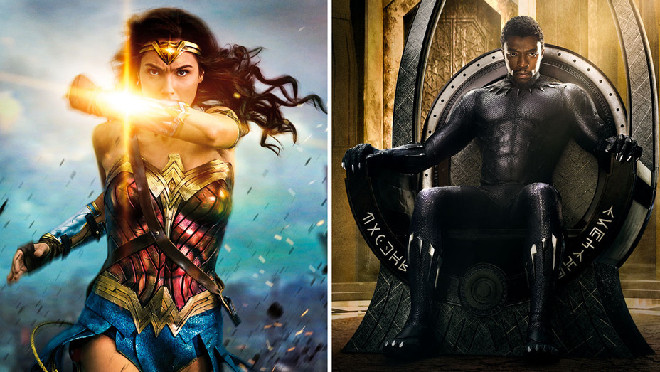 Wonder Woman and Black Panther Still - Split - Publicity - H 2017