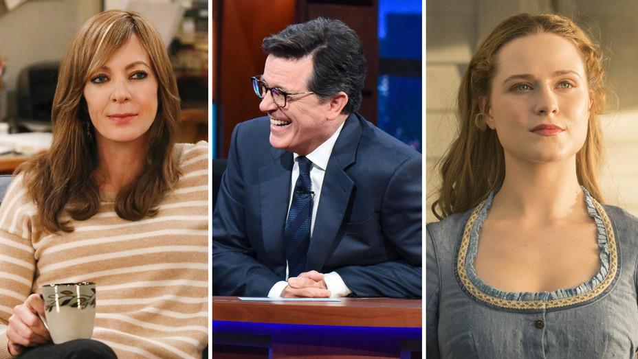 Allison Janney Stephen Colbert Evan Rachel Wood - H Split 2017