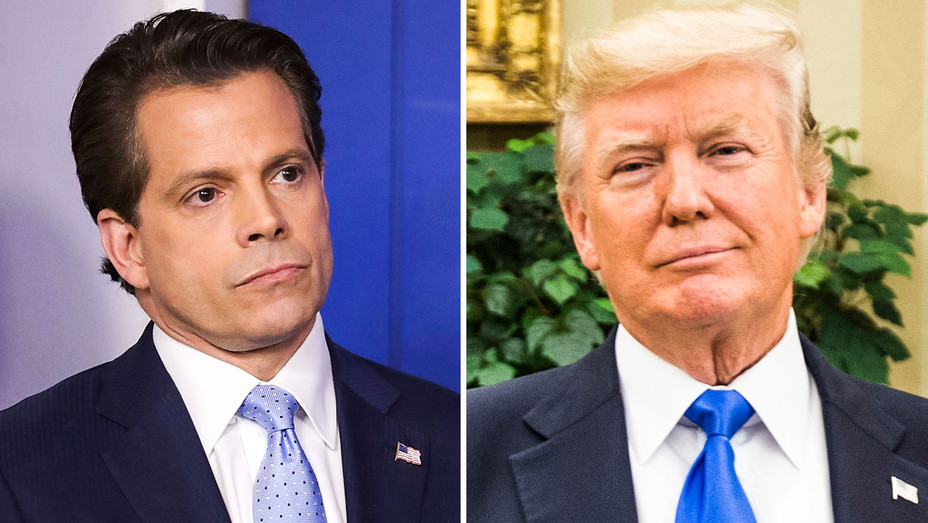 Anthony Scaramucci and Donald Trump - Split - Getty - H 2017