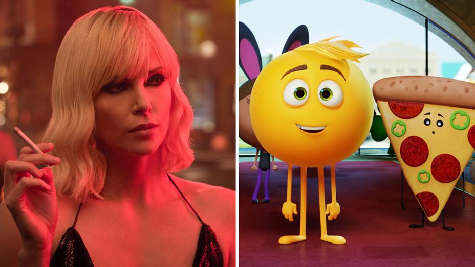 Atomic Blonde and The EMOJI Movie - Split - Publicity - H 2017