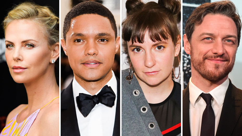 Charlize Theron, Trevor Noah, Lena Dunham and James McAvoy - Split - Getty - H 2017