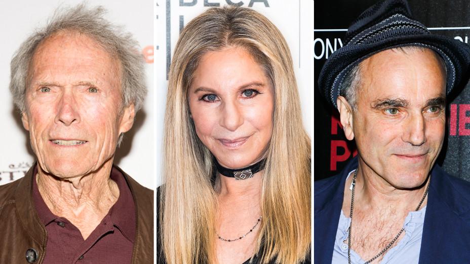 Clint Eastwood, Barbara Streisand and Daniel Day Lewis - Split - Getty - H 2017