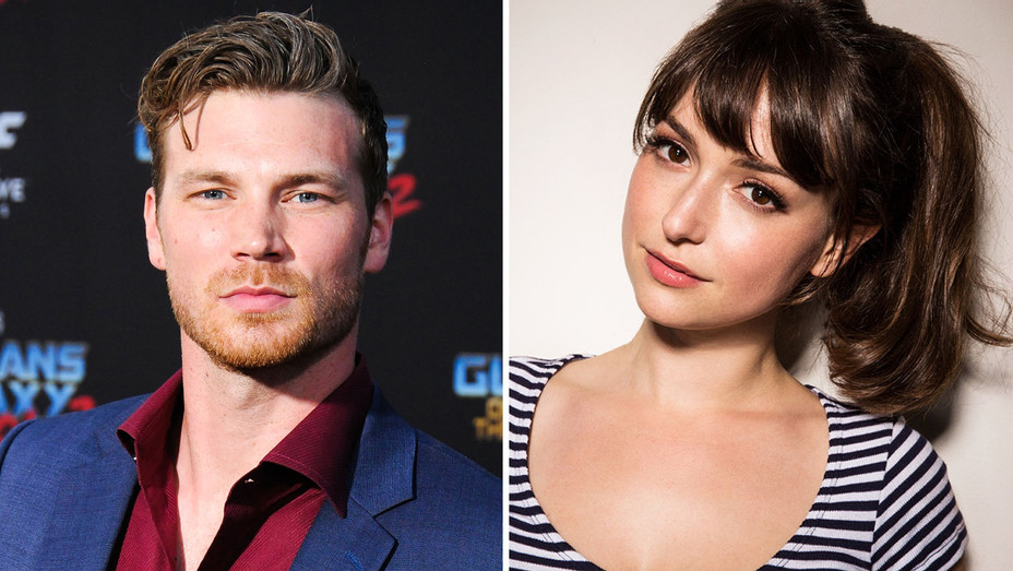 Derek Theler and Milana Vayntrub - Split - Getty - H 2017