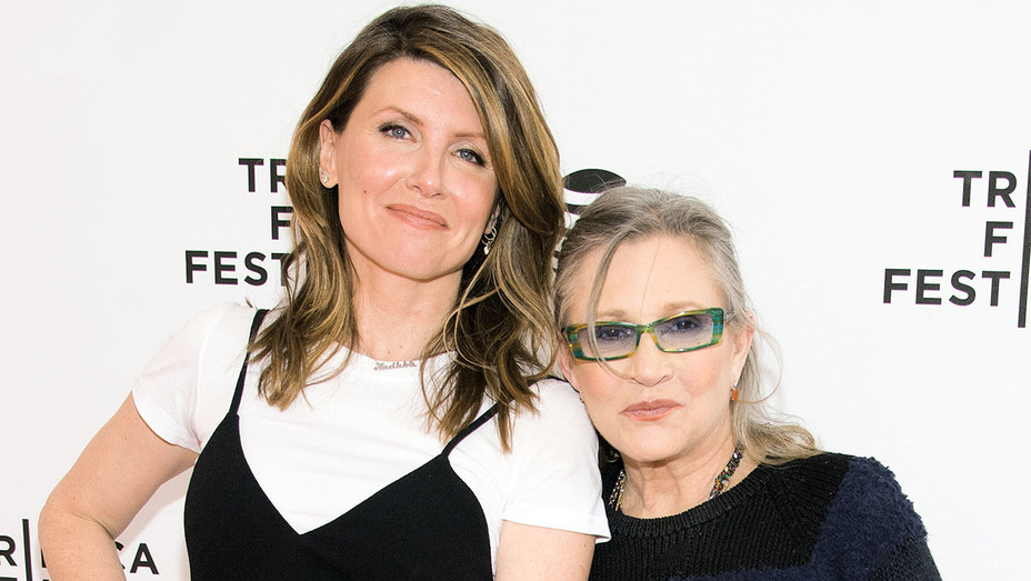 Sharon Horgan and Carrie Fisher - 2016 Catastrophe Tribeca Film Festival - Getty - H 2017
