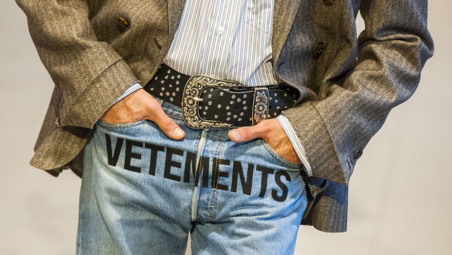 Vetements Crotch Logo Detail Paris Fashion Week - Getty - Embed 2017