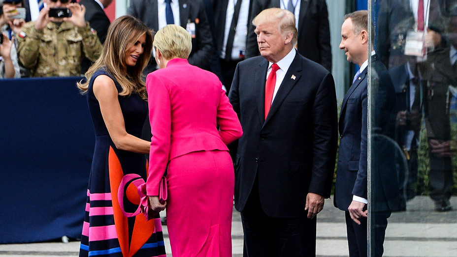 Donald Trump First Lady of Poland Meet - One Time Use Only - Getty - H 2017